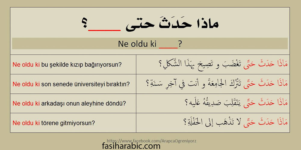 arapca ne olduki kalibi
