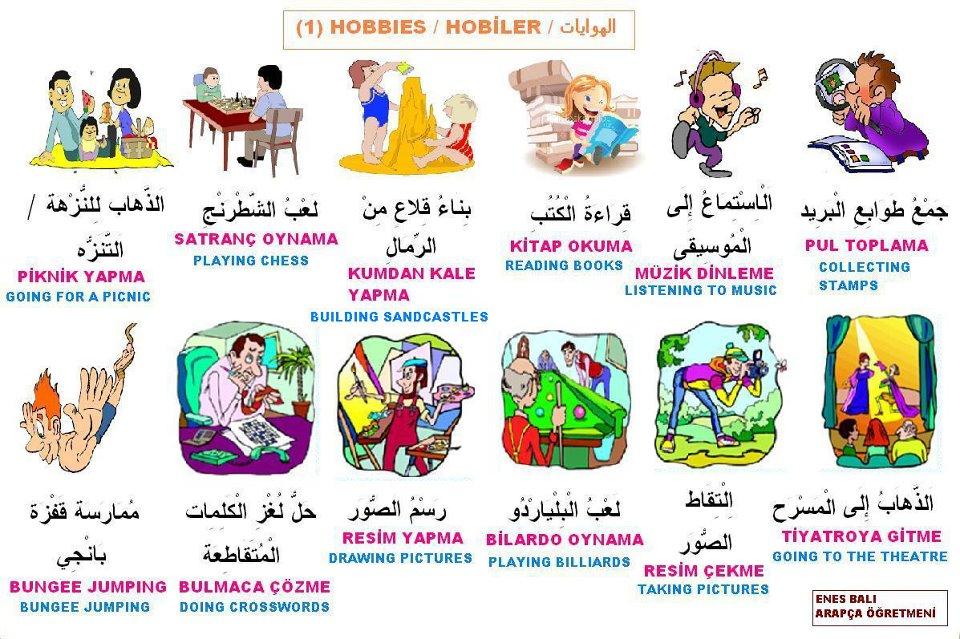 Arapça Hobiler Fasih Arapça